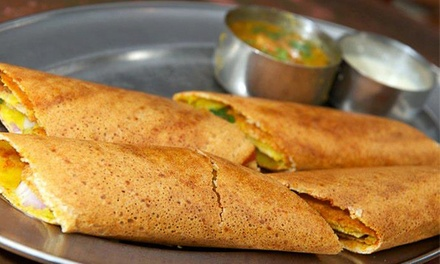 Indian Food at Dosa Delight (Up to 45% Off). Three Options Available.