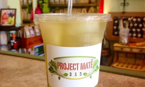 Project Mate Bar: Yerba Maté Tea at Project Maté Bar (50% Off). Four Options Available.