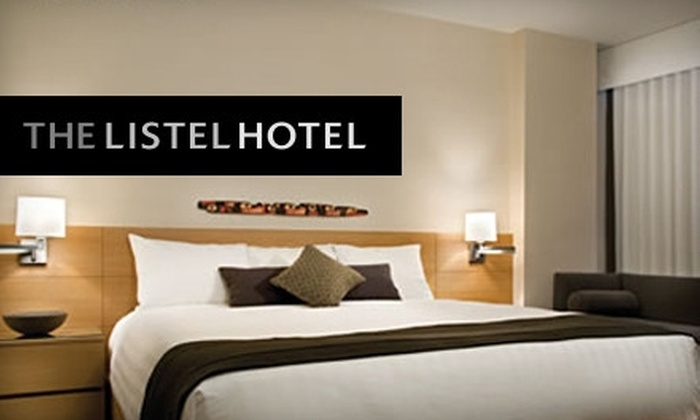 The Listel Hotel - West End: $129 for a1 Night Stay at The Listel Hotel Vancouver Plus $25 Restaurant Credit & Overnight Parking (Up to $259 Value)