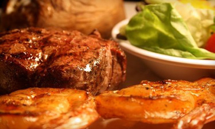 Cowboys' Bar-B-Q & Steak Co. - Multiple Locations: $20 for $40 Worth of Barbecue Fare and Drinks at Cowboys' Bar-B-Q & Steak Co.