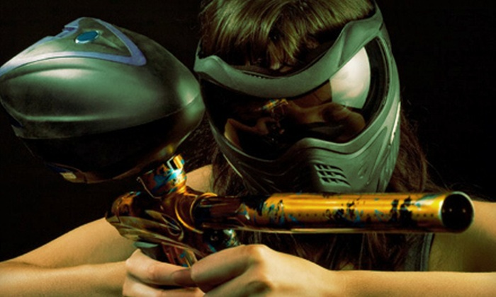 Richmond Indoor Paintball - City Centre: Paintball Package with Entry, Gear, and 100 Paintballs for 1, 2, 4, or 10 Players at Richmond Indoor Paintball (Up to 65% Off)