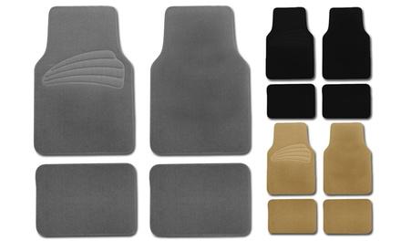 Premium Carpet Floor Mats with Vinyl Heel Pads (4-Pc.)