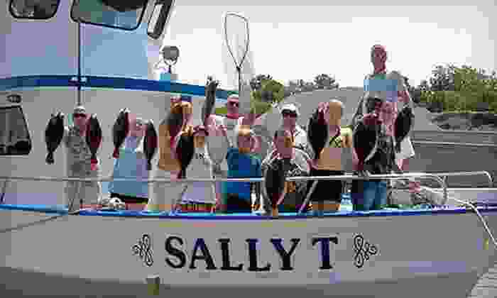 Sally T Fishing - Downtown Hampton: Full-Day Fishing Trip for Two from Sally T Fishing (Half Off). Two Options Available.