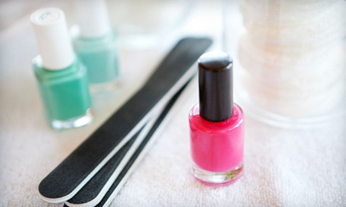 Chi Hair Design - Belmont Hill: One or Two Organic Mani-Pedis or Shellac Mani-Pedis at Chi Hair Design (Up to 59% Off)