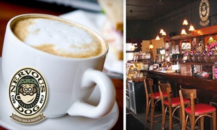 Nervous Dog Coffee - Multiple Locations: $5 for $10 Worth of Coffee, Sandwiches, and Pastries at Nervous Dog Coffee Bar & Roaster