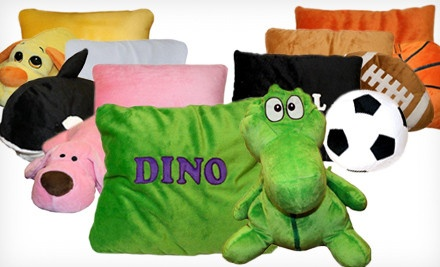 Dunk, a Stuffed Plush Basketball Pillow (a $20 value) - Children's 2-In-1 Convertible Pillow in