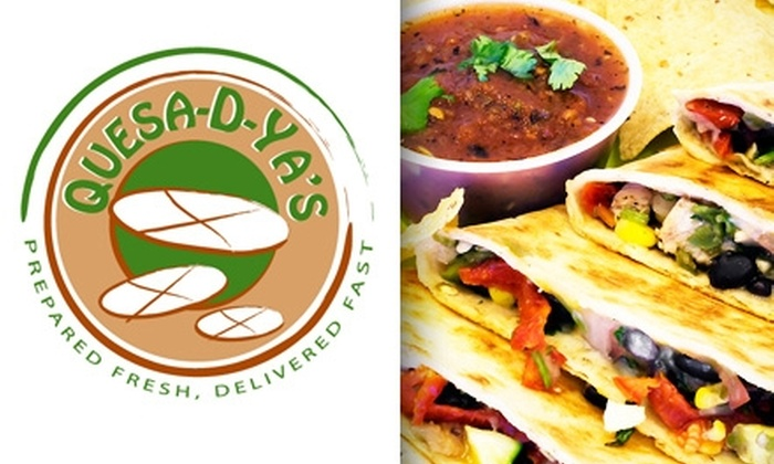 Quesa-D-Ya's - Lower Greenville: $10 for $20 Worth of Quesadillas, Sides, and Drinks at Quesa-D-Ya's
