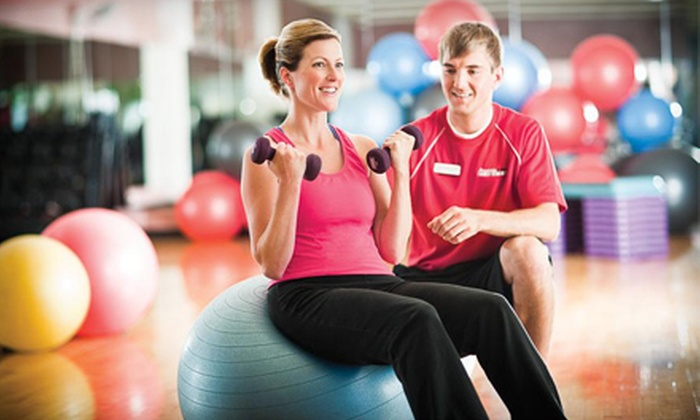 Prairie Life Fitness - Multiple Locations: $19 for Gym Membership and Personal-Trainer or Pilates Session at Prairie Life Fitness (Up to $135 Value)