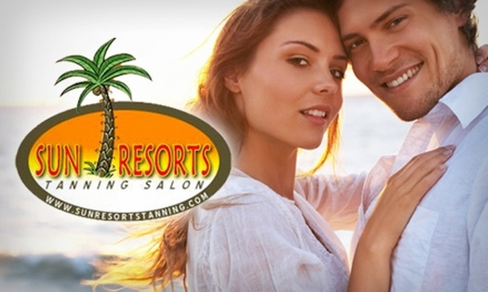 Sun Resorts Tanning Salon - Northwest Virginia Beach: $20 for Choice of One Month of Unlimited Tanning on Any Level Bed or Two Full-Body Custom Spray-Tan Sessions at Sun Resorts Tanning Salon (Up to $80 Value)
