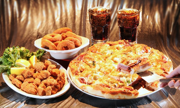 Tumblers Bar & Grill - Whitmore Park: Pizza Combo Meal for Four or $20 for $45 Worth of Casual Fare at Tumblers Bar & Grill