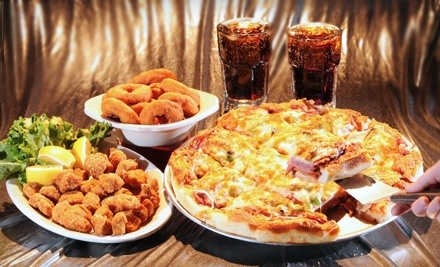 Pizza Combo Meal for Four (Up to a $55 value) - Tumblers Bar & Grill in Regina