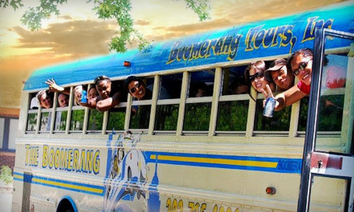 Boomerang Tours - Washington DC: Party-Bus Pub Crawl with Drinks for One, Two, Four, or Eight from Boomerang Tours (Up to 51% Off)