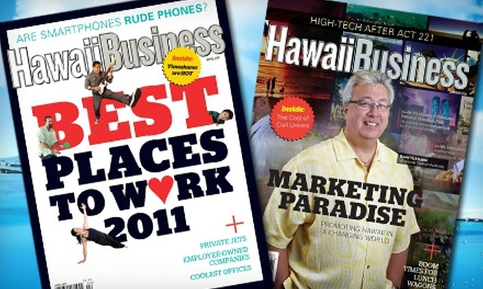 """Hawaii Business"": $10 for a One-Year Subscription to ""Hawaii Business"" Magazine ($29.95 Value)"