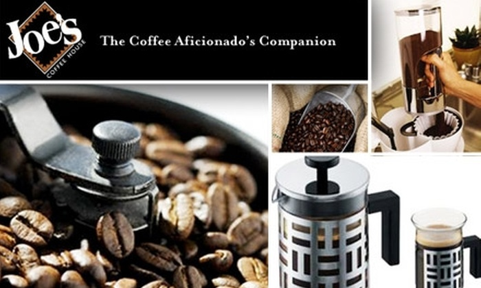 Joe's Coffee House: $15 for $35 Worth of Gourmet Coffees, Teas, and Gifts at Joe's Coffee House Online
