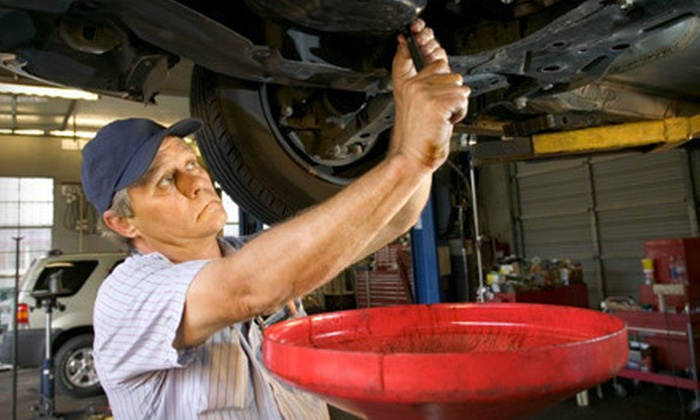 Menlo-Atherton Shell - Menlo Park: Three or Five Oil-Change Packages with Inspections at Menlo-Atherton Shell in Menlo Park (Up to 76% Off)