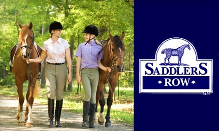 Saddler's Row & Country Ridge Stables - Multiple Locations: $55 for a Two-Hour Riding Lesson and Helmet at Saddler's Row in Palatine and Country Ridge Stables in Mundelein ($130 Value)