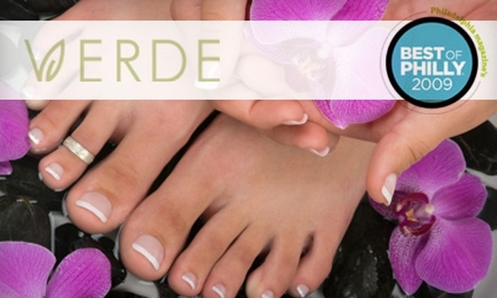 Verde Salon - Gloucester City: $35 for a Mani-Pedi Package at Verde Salon in Collingswood