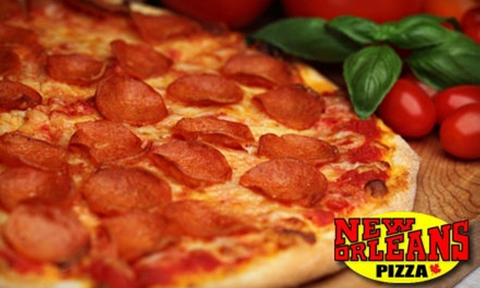 New Orleans Pizza - Multiple Locations: $15 for $30 Worth of Italian Fare and Drinks at New Orleans Pizza. Good at Four Locations.