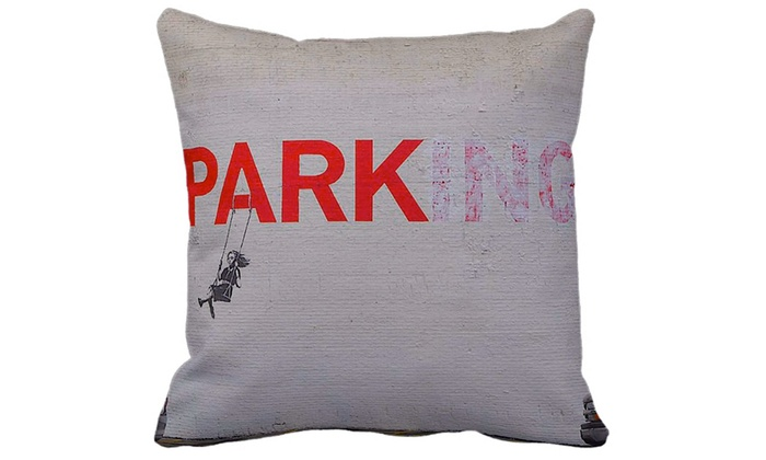 Banksy Street Art Throw Pillow Groupon