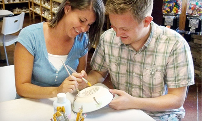 All Fired Up - Multiple Locations: $20 for $40 for Pottery Painting or Glass Fusing or Party for Up to 15 at All Fired Up (Up to 59% Off)
