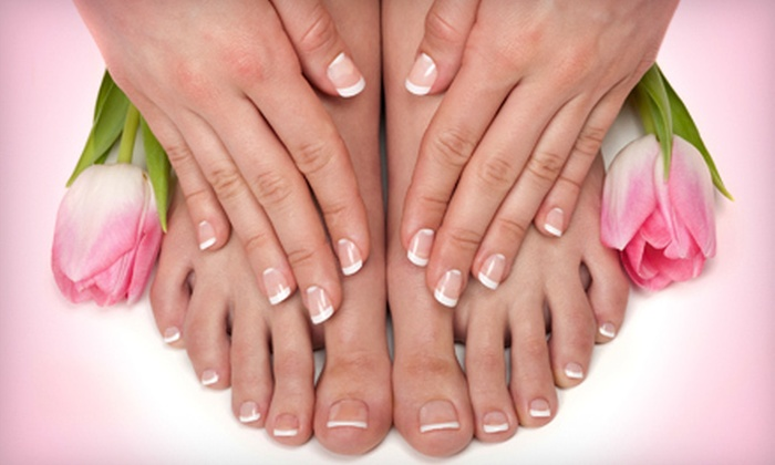 Christina's Salon & Boutique - Jeannette: Mani-Pedi or Haircut with Conditioning Treatment and Shellac Mani at Christina's Salon & Boutique in Jeannette (53% Off)