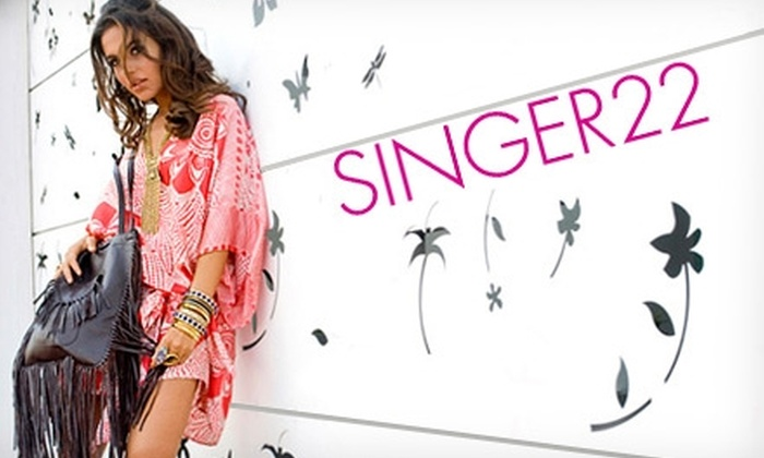 Singer22.com - Los Angeles: $50 for $110 Worth of Fashion-Forward Clothing and Accessories from Singer22