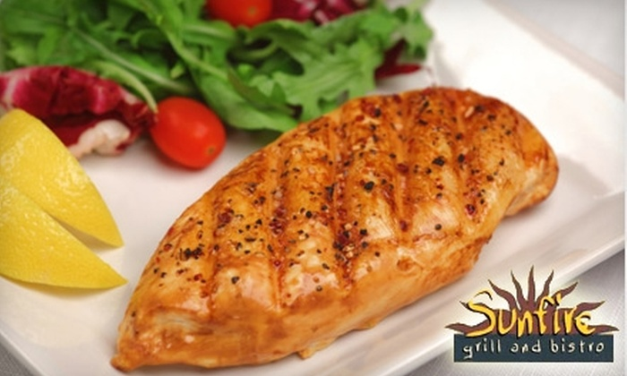 Sunfire Grill and Bistro - Sandhurst: $12 for $25 Toward Bistro Dinner Fare or $7 for $15 Toward Lunch at Sunfire Grill and Bistro