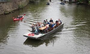 Stadthafen Leipzig: 75 Min. Motorboot-Rundfahrt durch den Karl-Heine-Kanal für 2 oder 4 Personen bei Stadthafen Leipzig (bis zu 54% sparen*)