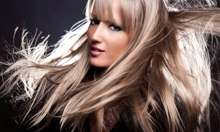 Salon Luna - Novi: Haircut with Option of All-Over Color or Partial Highlights at Salon Luna (Up to 51% Off)