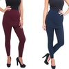 Women's Fleece-Lined Skirted Leggings (Missy & Plus Sizes)