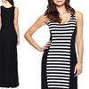 Seven7 Block Stripe Tank Maxi Dress