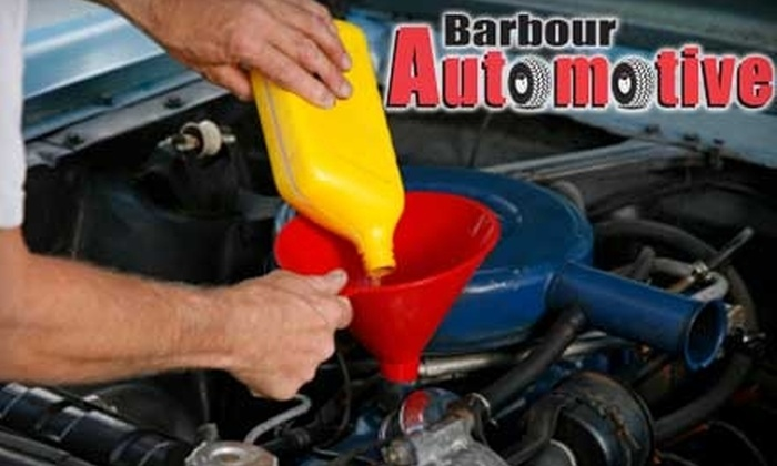 Barbour Automotive - Newark: $20 for Standard Oil Change, Tire Pressure Check, Fluid Check, and Tire Rotation at Barbour Automotive ($38.95 Value)