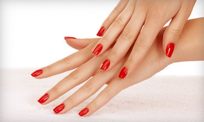 Stunning Nails and Hair By Kate in Mane Street Salon - Old Town Meridian: Mani-Pedi at Stunning Nails and Hair By Kate in Who Does Your Hair (Up to 57% Off). Two Options Available.