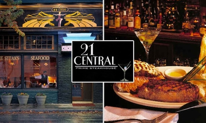 21 Central Steakhouse - Moss Bay: $21 for $50 Worth of USDA Prime Steaks, Fresh Seafood, and Drinks at 21 Central Steakhouse