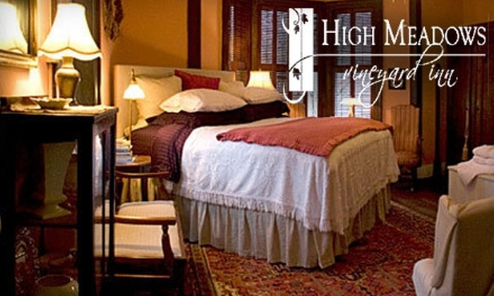 High Meadows Vineyard Inn - Scottsville: $150 for a One-Night Stay and Dinner for Two at High Meadows Vineyard Inn in Scottsville (Up to $360 Value)