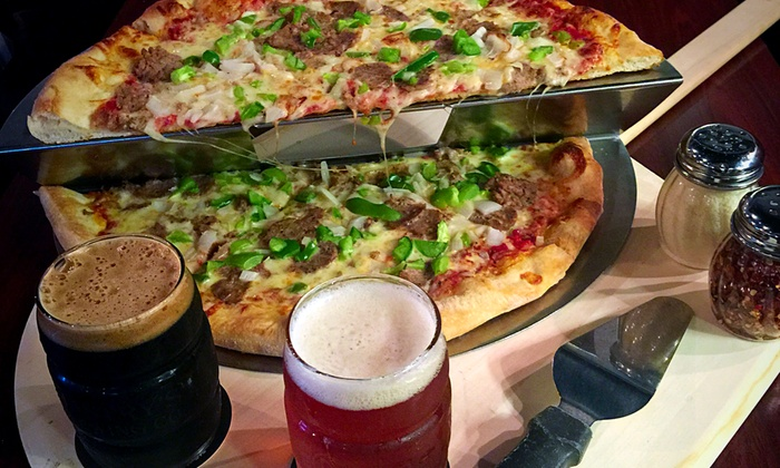 CD Roma Restaurant - Saint Petersburg: $17 for Pizza and Two Pints of Mastry's Brewing Company Beer at CD Roma Restaurant (Up to $28.99 Value)