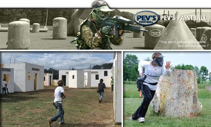 Pev's Paintball - Washington DC: $50 for All-Day Pass, Rentals, and Paint for Two at Pev's Paintball ($108 Value)