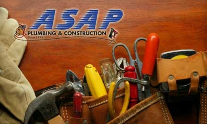 ASAP Plumbing & Construction - Wichita: $45 for One Hour of Handyman Services from ASAP Plumbing & Construction ($90 Value)