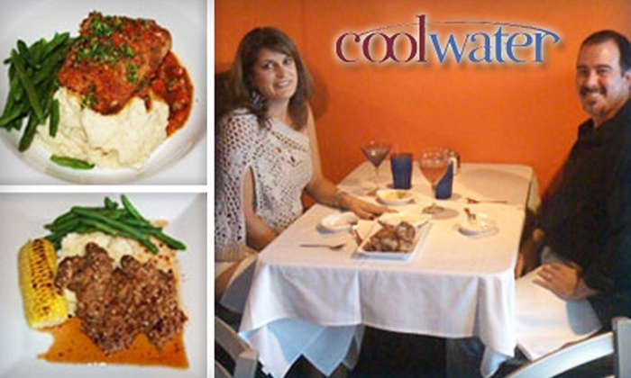 Cool Water Fusion Restaurant - North Easterns: $10 for $20 Worth of Elegant American Dinner and Drinks Or $7 for $15 Worth of Lunch at Cool Water Fusion Restaurant