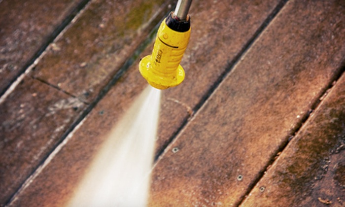 Quick-Kleen Home Services - Pittsburgh: Deck Pressure Washing or Deck Pressure Washing and Staining from Quick-Kleen Home Services (Up to 58% Off)