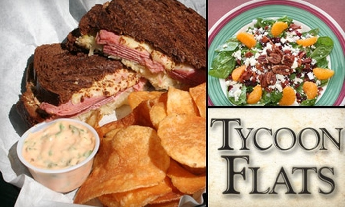 Tycoon Flats - Tobin Hill: $7 for $15 Worth of Towering Burgers and Other Roadhouse Fare at Tycoon Flats