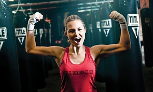 TITLE Boxing Club: Two Weeks of Unlimited Boxing and Kickboxing Classes for One or Two at TITLE Boxing Club (Up to 78% Off)