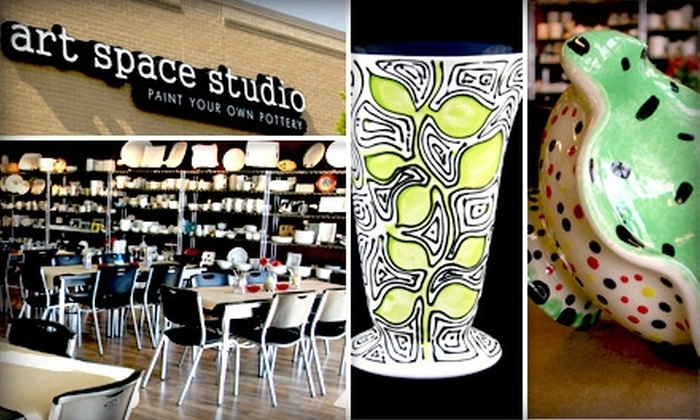 Art Space Studio - Yorkshire: $10 for $25 Worth of Paint-Your-Own Pottery or Glass-Fusing Projects at Art Space Studio