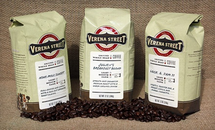 Three 11-12 oz. Bags of Specialty Coffee (an $8.95 value/bag; a $26.85 total value) - Verena Street Coffee Co. in