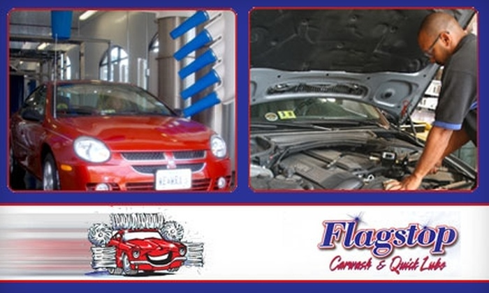 Flagstop Car Wash & Quick Lube - Multiple Locations: $18 Full-Service Oil Change and Exterior Car Wash at Flagstop Car Wash & Quick Lube ($36.99 Value)