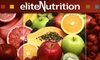 Elite Nutrition - Multiple Locations: $5 for $10 Worth of Organic Smoothies from Elite Nutrition