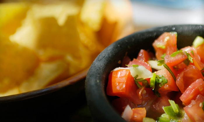 Vallarta's Restaurant - Bonibrook: $19 for Chips and Salsa, Entrees, and Drinks for Two at Vallarta's Restaurant (Up to $41.90 Value)