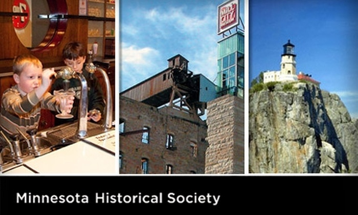 MInnesota Historical Society - Multiple Locations: $35 One-Year Household Membership to the Minnesota Historical Society ($75 Value)