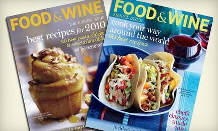"Food & Wine Magazine: $12 for 15 Issues of ""Food & Wine"" Magazine ($24.99 Value)"
