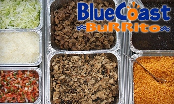 Blue Coast Burrito - Multiple Locations: $5 for $10 Worth of Baja-Style Mexican Fare and Drinks at Blue Coast Burrito